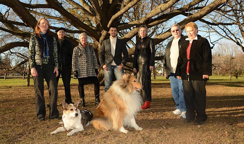 L-R: Delia Coates, Don Runge, Barb Barkley, Sid Lee, Anna Tyers, John Dione, Dorothy Dione